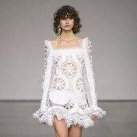 2018 nowy przyjeżdża kobiety biały Floral sukienka seks