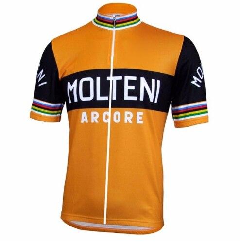 2018 mens retro Molteni radtrikot sommer team fahrradbekleidung fahrrad tragen roupas ciclismo maillot velo