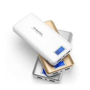 Image 2 - 本 Pineng PN999 電源銀行 20000 8400mah デュアル Usb Led 懐中電灯 Powerbank Bateria の外部バッテリー充電器 5V ポータブル充電器