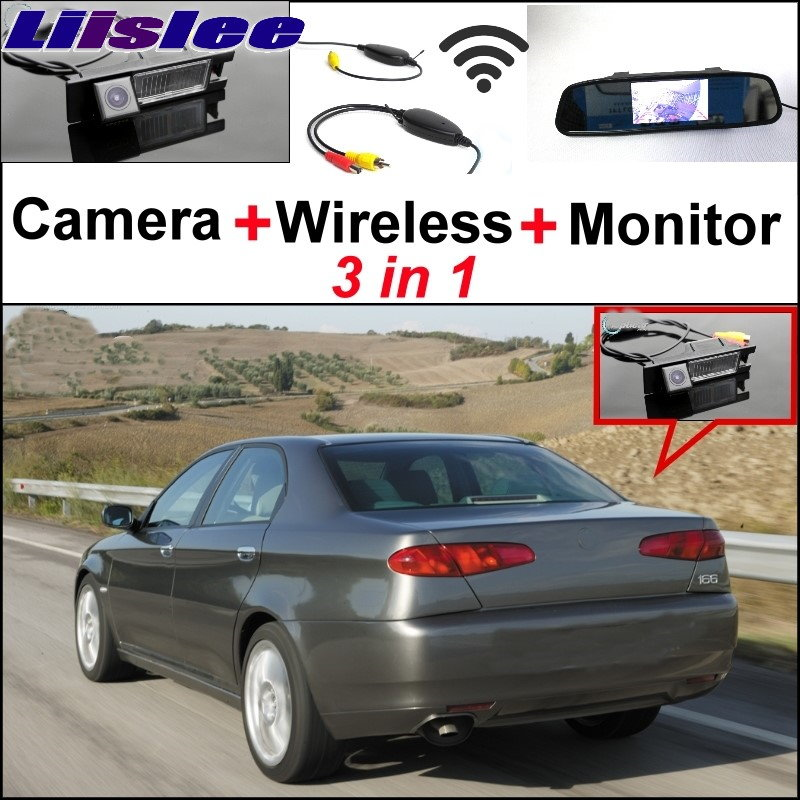 Liislee Wireless Receiver + Mirror Monitor EASY DIY Backup Parking System + 3in1 Special WiFi  Camera For Alfa Romeo AR 166 3 in1 special rear view camera wireless receiver mirror monitor easy diy backup parking system for jeep liberty 2002 2007