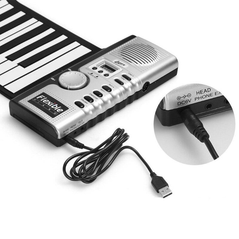 Portable retroussable 61 MIDI touches souples Flexible électronique Piano musique clavier nouveau