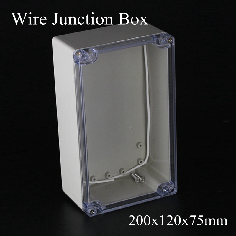 IP65 200x120x75mm Clear Cover ABS Transparent Plastic Electronic Project Waterpoof Wire Junction Box Cable Sealed Enclosure CaseIP65 200x120x75mm Clear Cover ABS Transparent Plastic Electronic Project Waterpoof Wire Junction Box Cable Sealed Enclosure Case