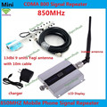 LCD Screen GSM 850 Mhz 850MHz Repeater Booster  GSM 850 repetidor Cell phone Mobile Signal Repeater Amplifier & Yagi Antenna Set