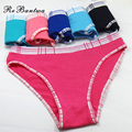 Rebantwa 6pcs/lot Pink Briefs Sexy Panties Plus Size Women Underwear Cotton Female Patchwork Knickers Intimates Factory Whoesale