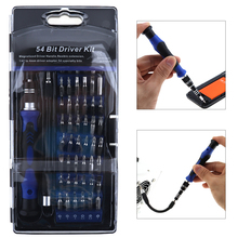 REIZ 58 In 1 Multi function Precision font b Screwdriver b font with 54 Bits Screw