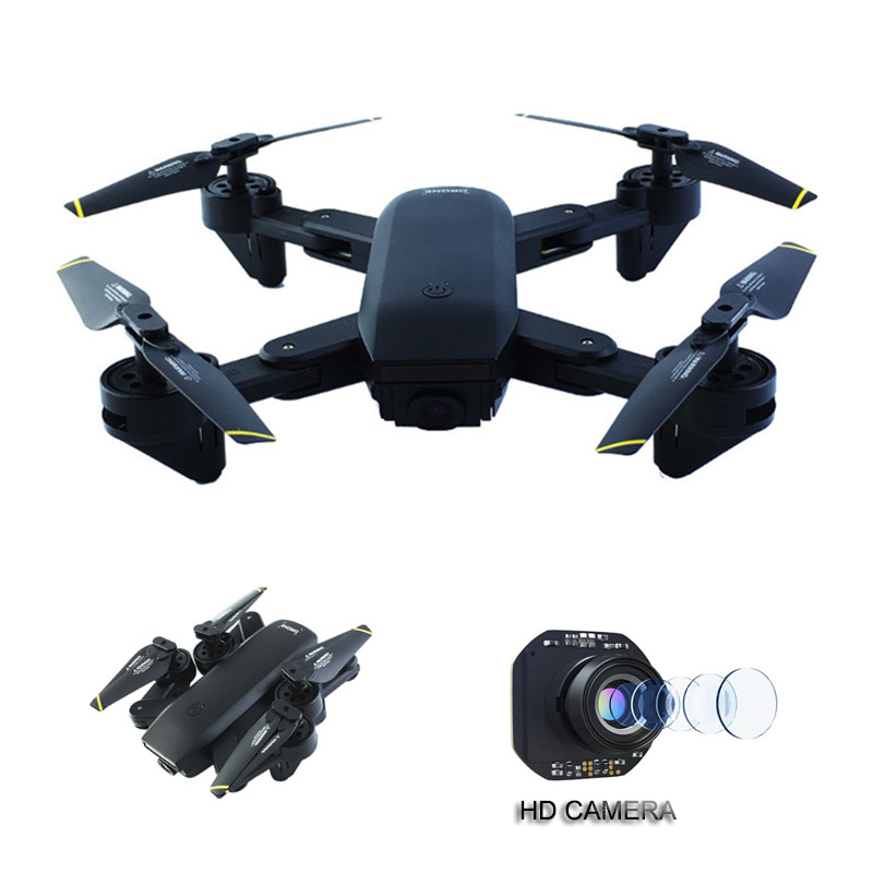 Black Drones With Camera HD Wide-angle 4CH Drone Professional WIFI Phone Remote Control Helicopter VS Eachine E58 XS809HW