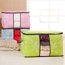 Newest 60*40*35cm Foldable Flower Printed Quilt Sorting Anti-bacterial Clothing Organizer Bags Storage Box 1pcs Quality First
