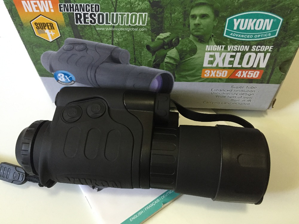 Original Yukon 24102 Exelon infrared night vision Scope 4×50 night vision monocular for hunting, fishing, hiking NV scope