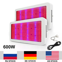 2pcs/lot 600W Growing Lamp Full Spectrum AC85 265V SMD5730 LED Grow Light For Indoor Plants Fast Growing Flowering