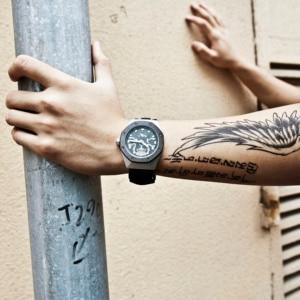 Image 1 - BAOGELA2019 Skeleton Quartz Watches Men Sports Army Military Wristwatch Luminous Waterproof Silicone Band Man1901 BLACK White