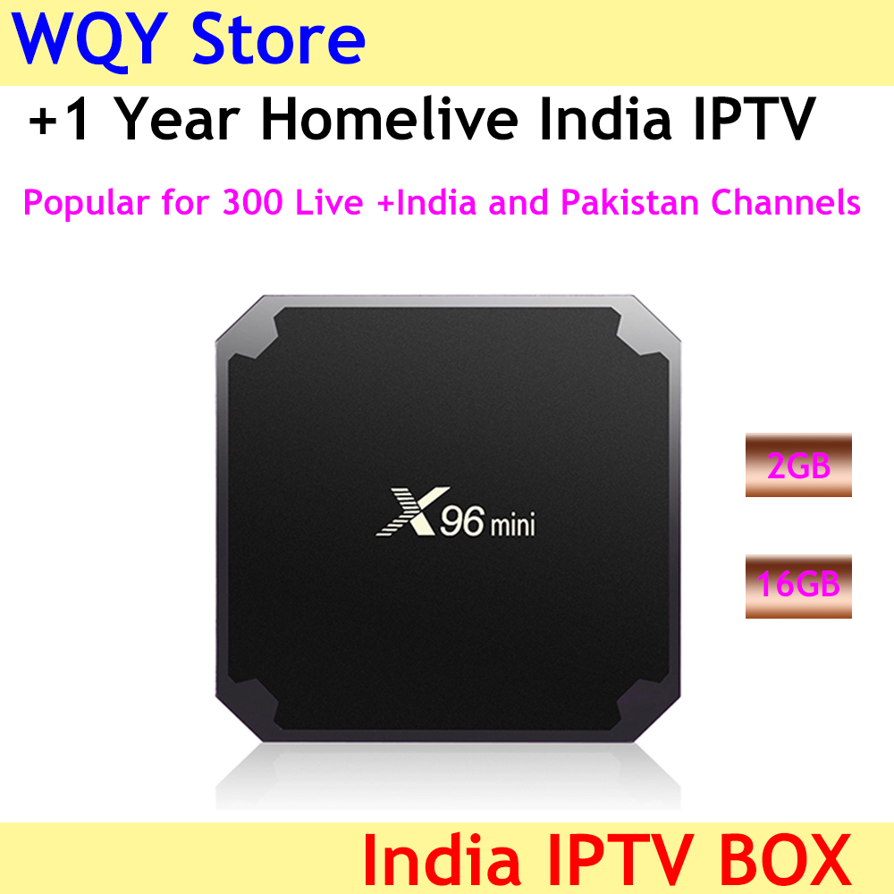 X96 mini 2G 16G smart tv box with homelive Indian Pakistan iptv subscription support 4k hd