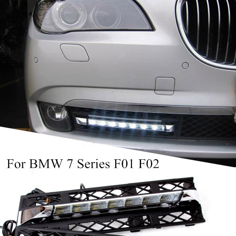 2PCs / set LED Daytime Running Lights DRL Fog for BMW 7 Series F01 F02 730i/740i/750i/760i 2009-2013 Quality Assured Wholesale