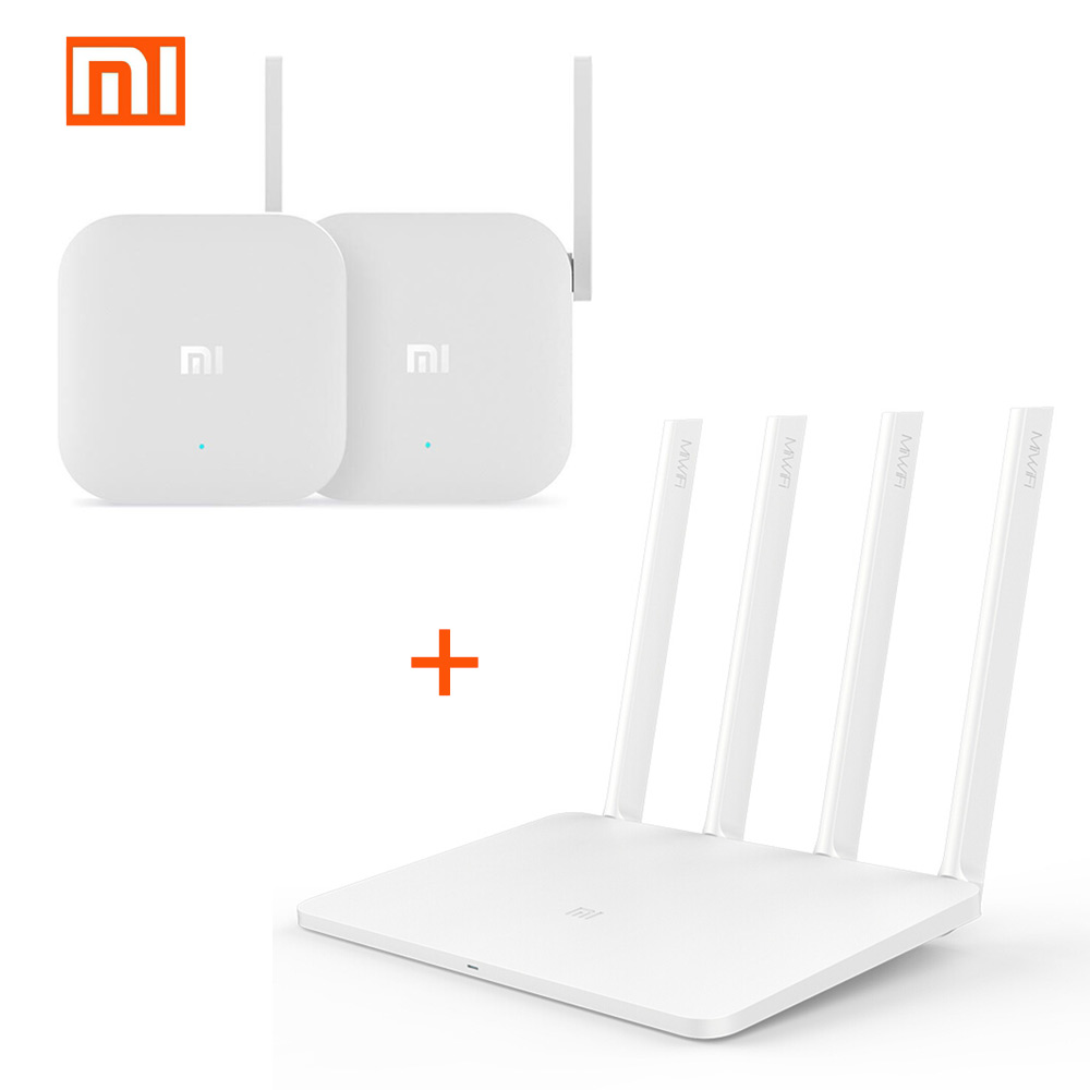 Xiaomi WiFi Wireless Router 3 Repeater Set 1167Mbps 2.4G/5G Dual Band 128MB ROM Wifi Router And Wireless Range Extender Repeater xiaomi mi wifi wireless router 3 1167mbps wifi repeater 4 antennas 2 4g 5ghz 128mb rom dual band app control mi wifi repeater