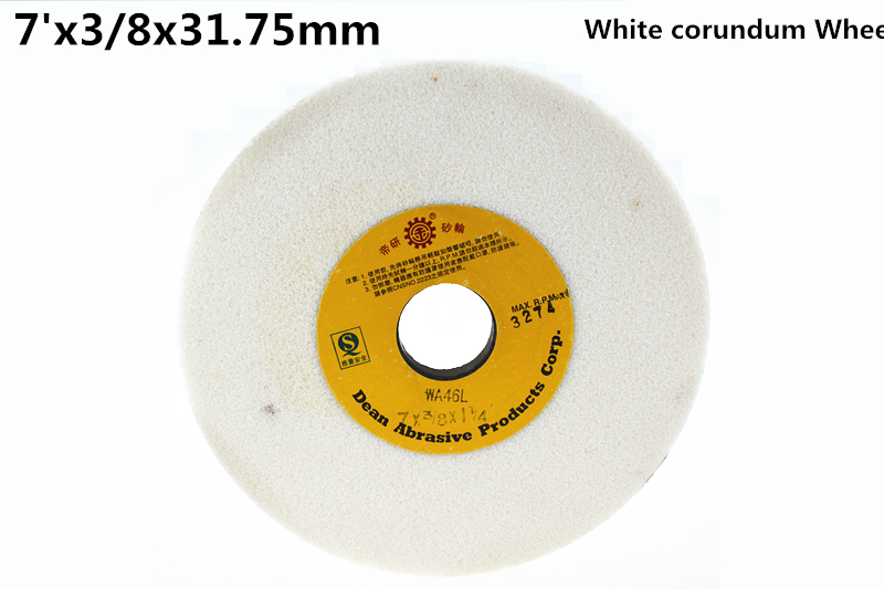 цена на 180x9.52x31.75mm White corundum grinding wheel 1pcs free shipping high quality White corundum