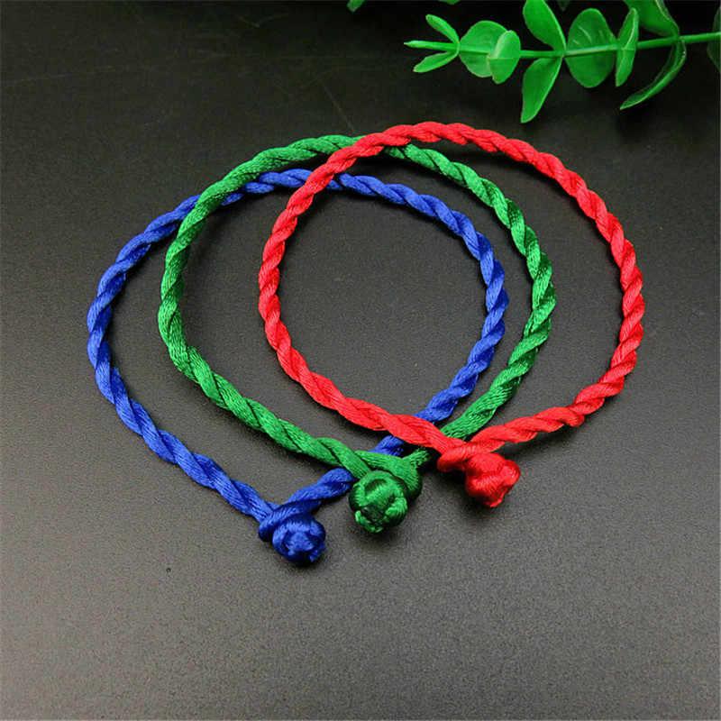 LNRRABC new Fashion 1 Pc czerwona bransoletka z liny bransoletka szczęśliwe bransoletki przewód ciąg ręcznie para bransoletka przyjaciele prezent