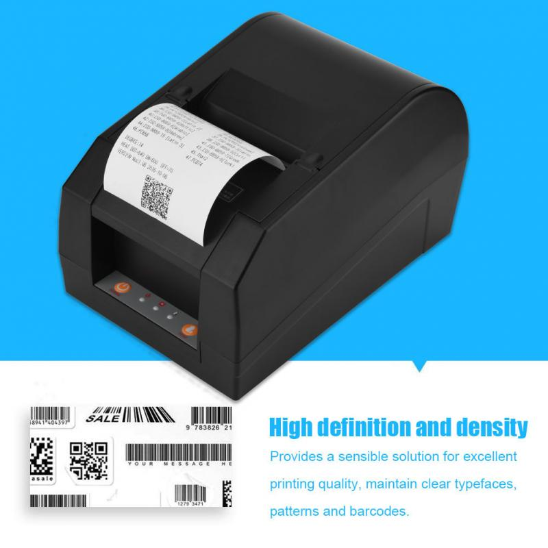 Thermal Receipt Printer for Bank Supermarket POS Printing US EU UK Plug Professional USB 80mm Thermal Printer 5pcs 80mm pos printer high speed thermal receipt printer automatic cutting usb ethernet ports 300 mm s dhl