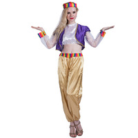 Women Genie Girl Costume Dress Cosplay Adult Dress Lady Outfit Halloween Costumes