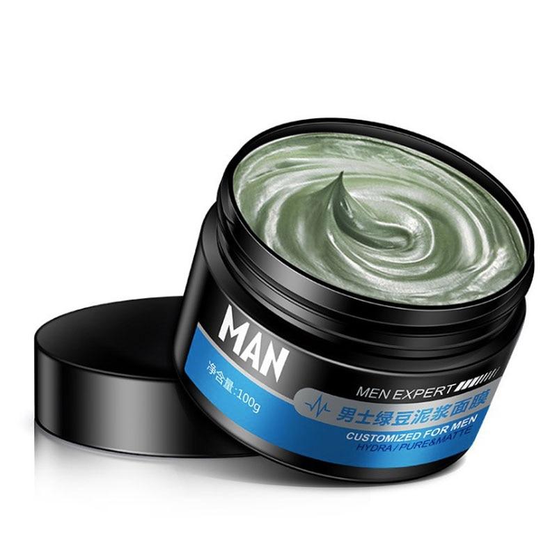Men Mung Bean Mud Refreshing Facial Mask Skin Care Face Mask