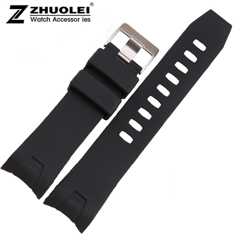 Watchbands 20mm 22mm NEW Mens Black Diver Waterproof Silicone Rubber Curved end Watch Band Strap Bracelets black silicone rubber watchband curved end for special watches sport style watch strap 22mm for replacement bracelets promotion