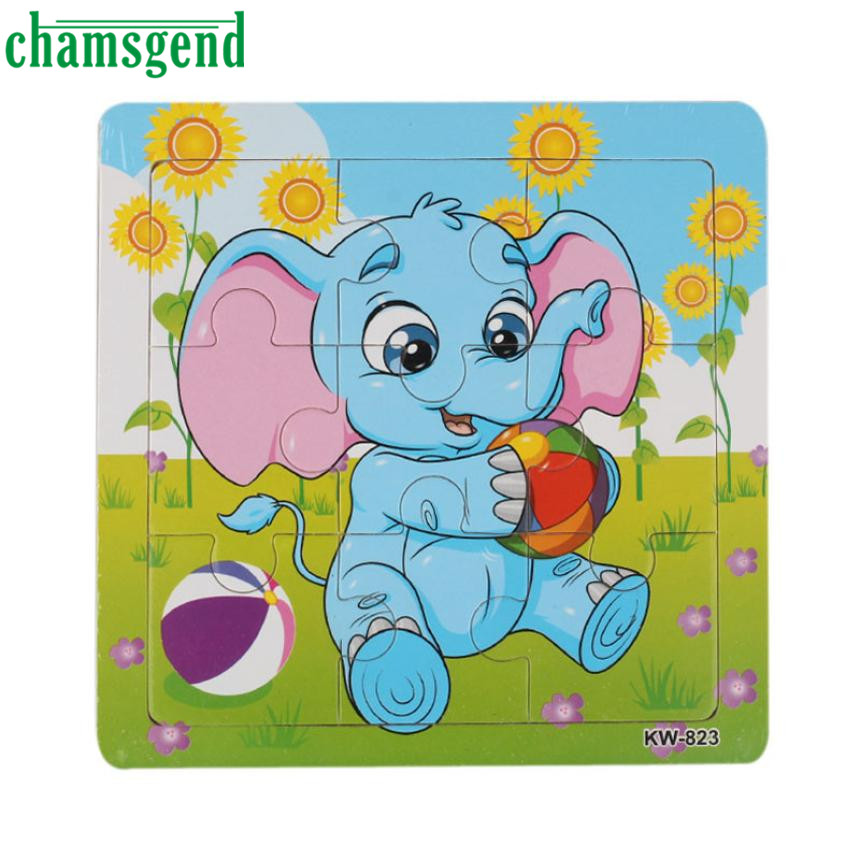 High Quality  Wooden Elephant Jigsaw Toys For Kids Education And Learning Puzzles Toys Aug10