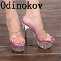 2017 New Summer Pumps Sexy14CM Ultra High Heels Female Sandals Platform Party Platform Open Toe Women's Shoes Princess Shoes