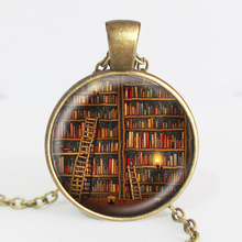 Library Book Case Necklace