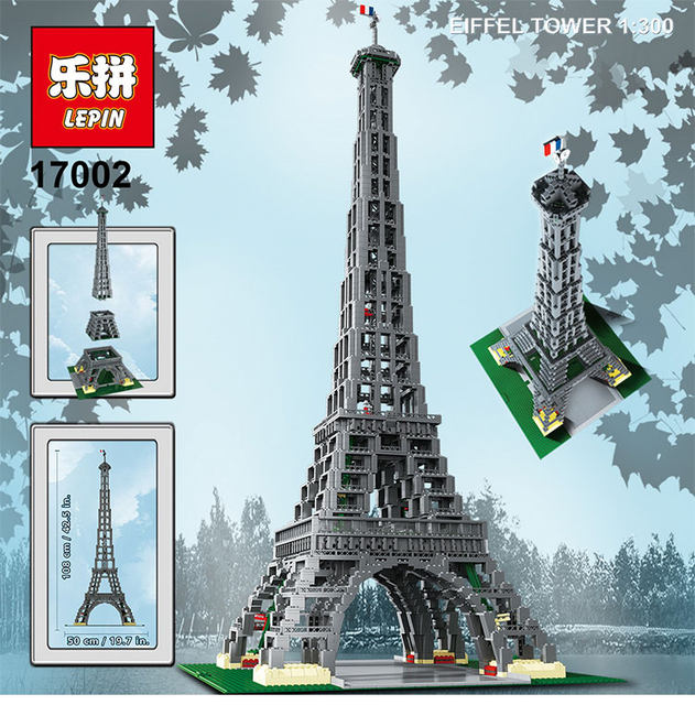 Online Shop Lepin 17002 3478pcs Paris Eiffel Tower Model Building