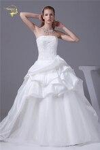 Jeanne Love 2017 New Arrival Wedding Dresses Robe De Mariage Taffeta Tulle A Line Bridal Gown Vestido Novia JLOV75904
