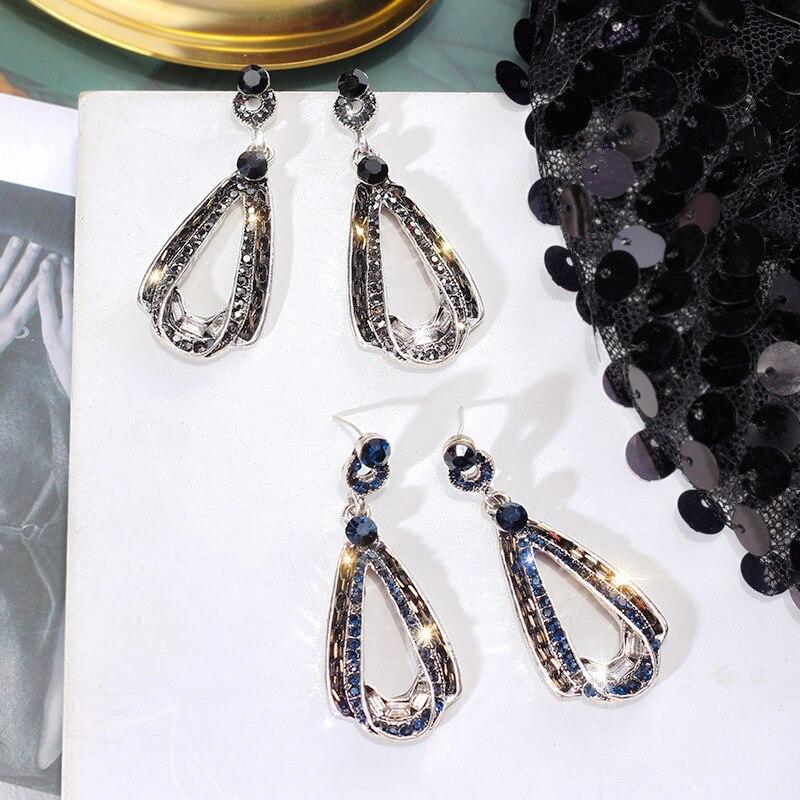 Brand 2019 New S925 Silver Needle Super Flash Tone Drop Earrings Europe America Retro Baroque Wind Earrings For Women Jewelry in Drop Earrings from Jewelry Accessories