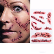 20 PC Halloween Zombie Blessures Autocollant Cicatrices Tatouages Avec Faux  Croûte Sang Spécial Fx Costume Maquillage Cosplay .