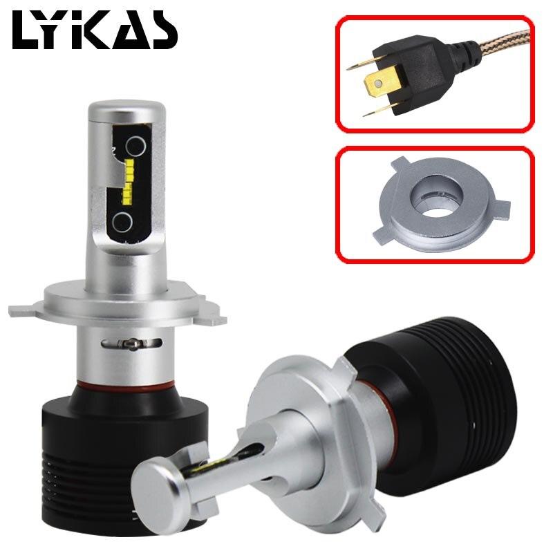 Led H4 Hi/Lo 9003 Car Headlights H1 H7 H11 9005 9006 Bulb 9000LM 6000K 90W 12v 24V Car Led Headlight Auto Headlamp DRL Fog Light