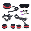 Adult Games Flirt Sets Restraint Bondage Sex Toys for Couples BDSM Slave Game Nipple Clamps Foot Handcuff Ball Gag Whip Collar