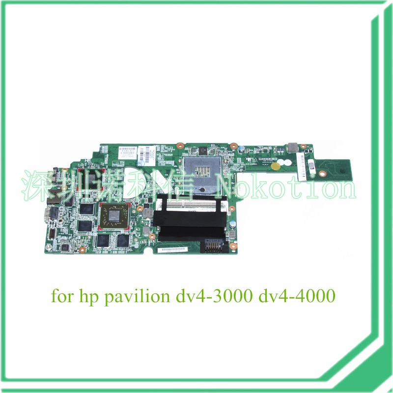 NOKOTION 640334-001 For hp dv4-3000 laptop motherboard intel HM65 DDR3 HD6750 1GB Graphics ce rohs standard formaldehyde monitor with temper and rh