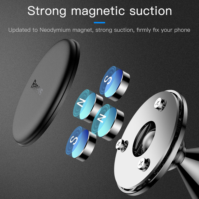 Baseus Magnetic Car Phone Holder for iPhone 11 Auto Air Vent Mount Mobile Phone Holder Stand for Samsung Note Car Bracket 2