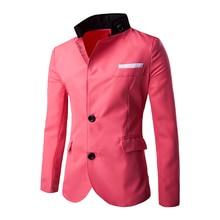 Модные серые Повседневное блейзер мужской костюм 2017 Лидер продаж мужские Slim Fit Blazer куртка корейский Однобортный Блейзер костюм Весте Homme