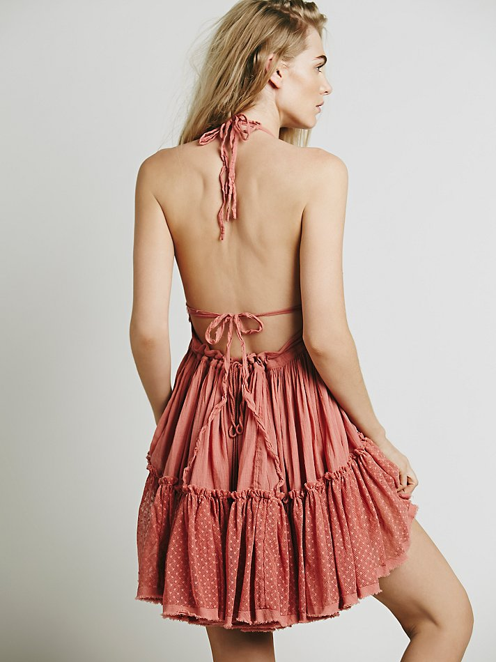 Backless Beach Lace Strapless Short Pleated Cute Dress 8