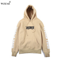 2017 Justin Bieber Vetements Hoodie Oversized Khaki Sweatshirts Purpose Tour Men S Hip Hop Pullover Winter