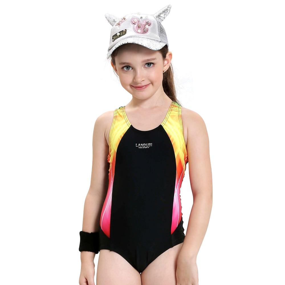 Girls Swimwear Kids One Piece Swimsuit Summer Baby Girls -8583