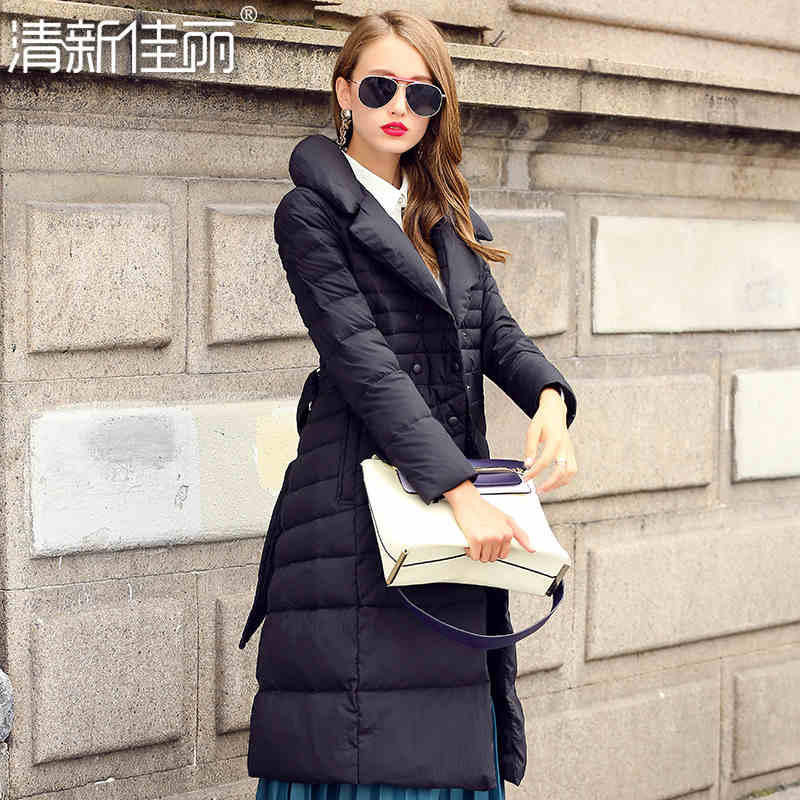 2015 New Hot Winter Thicken Warm Woman down jacket Coat Parkas Outwewear Slim Brand Luxury High-end Mid Long Plus Size XL Cold