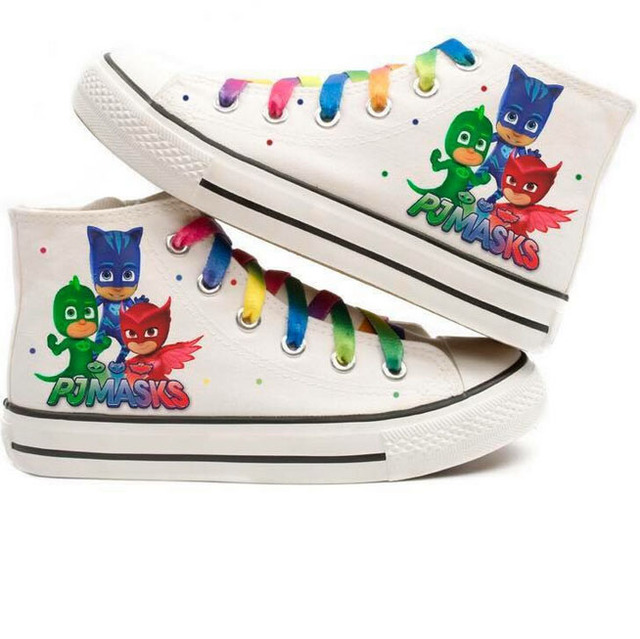 kids cartoon shoes pj mask new kids casual shoes hand painted boots