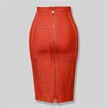 Высококачественная Черная, красная, синяя, оранжевое на молнии облегающая юбка из вискозы, вечерние юбки-карандаш