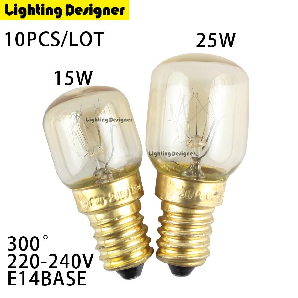 T22 High temperature T25 15W 25W 300 Degree SES E14 OVEN toaster steam 220V steam light bulb cooker hood lamps Salt crystal lamp