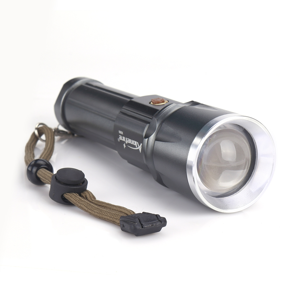AloneFire X900 CREE XM-L T6 Hard Light LED Zoom led Torch Zaklamp Zoom USB Rescue Tactical Flashlight for 18650 or 26650 battery