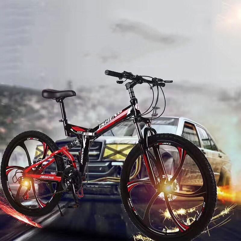 21/24/27 Speed Mountain Bike Road Bikes 26 Inch Double Shock Absorption Fast Folding One Wheel Ultra Light Bicycle