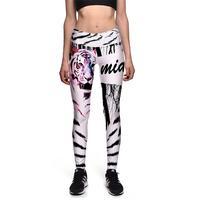 Nouveau Blanc Tigre Femmes Mince Sexy Leggings Pantalon De Yoga de Remise En Forme élastique Collants Filles 3D Animal Conception Taille Haute Gym Pantalon S-3XL