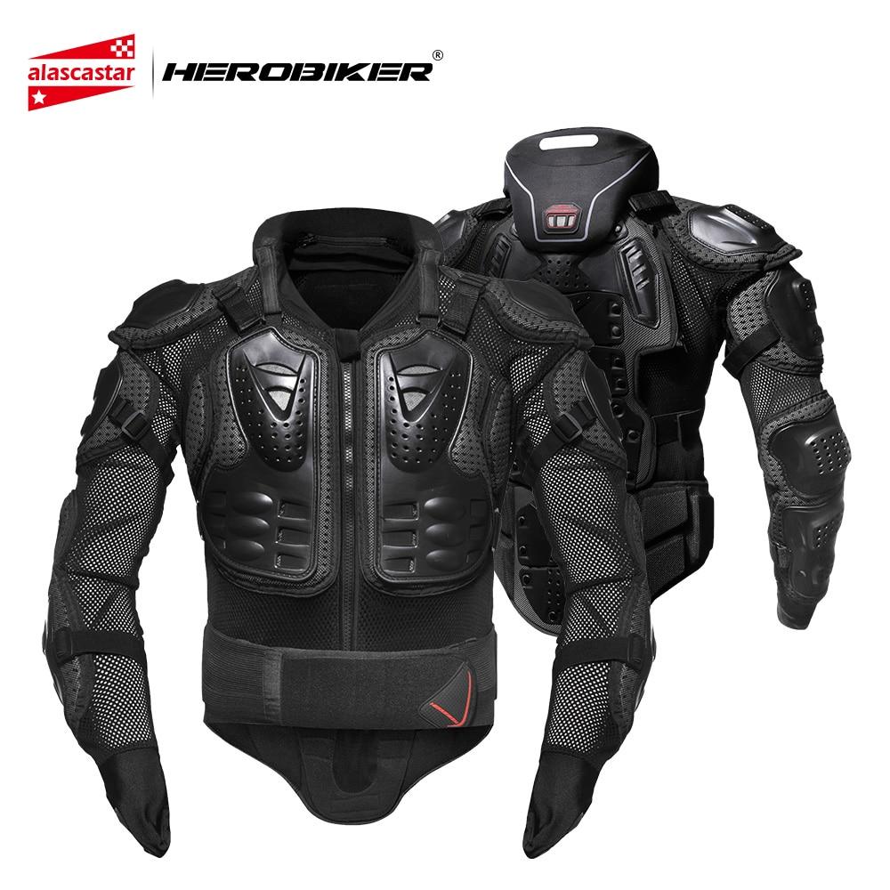 HEROBIKER Revestimento Protetor Do Corpo Armadura de Proteção Equipamentos de Proteção Da Motocicleta Motocross Moto Moto Jaquetas Com Protetor de Pescoço