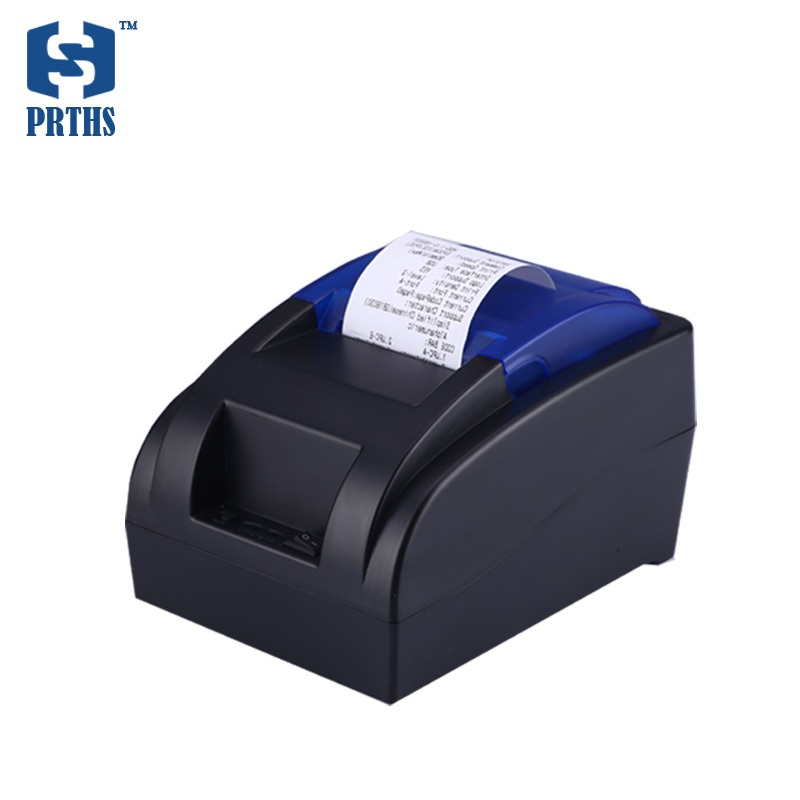 Small 58mm thermal receipt printer with serial RS232 interface low noise and no need ribbon support linux for pos system