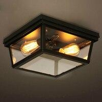 Скандинавссветодиодный светодиодные Ретро Потолочные светильники проходные светильники балкон потолочные светильники спальня светильни