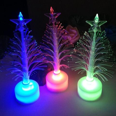 New Year Optical Fiber LED Holiday Christmas Xmas Tree Color Changing LED Light Lamp Home Decoration Karachi