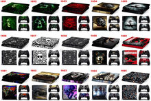 50 Sets/Lot Skins For Play 4 PS4 Skin For Playstation 4 Sticker Decal Cover + 2 Controller Sticker For PS4 Accessories